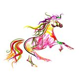 Horse sketch colorful for your design. Symbol of Stock Image