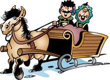 Horse sledging Stock Photos
