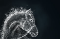Horse from a smoke Royalty Free Stock Images
