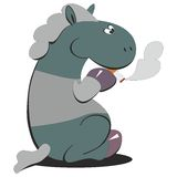 Horse smokes 007 Royalty Free Stock Photos