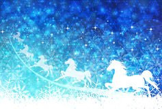Horse snow New Years greeting card background Royalty Free Stock Images