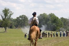 Horse soldier royalty free stock photos