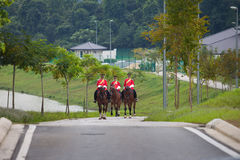 Horse Soldier of Malaysia. In red dress Royalty Free Stock Photo
