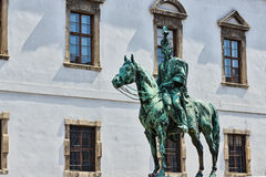 Horse and soldier statue Royalty Free Stock Images