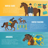 Horse Sport Banners Stock Photos