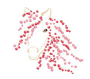 Horse spring. Fantasy illustration of spring horse with a mane of rose petals Royalty Free Stock Image