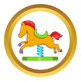 Horse spring see saw vector icon Stock Photo