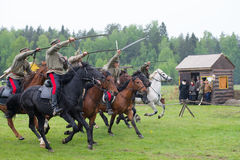Horse squad in atack Royalty Free Stock Photography