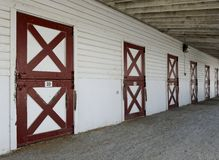Horse stable barn doors Royalty Free Stock Image