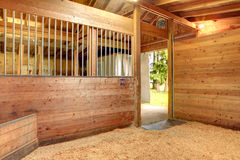 Horse stable barn stall stock photos