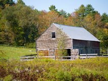 Horse Stable with fall foliage royalty free stock images