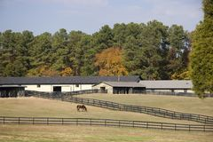 Horse Stables. In the Country in Autumn Stock Images