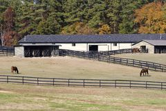 Horse Stables. In the Country in Autumn Stock Photo
