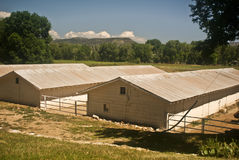Horse Stables at Cimarron. New Mexico stock image