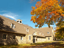 Horse stables. Fancy horse stables in autumn Royalty Free Stock Photography