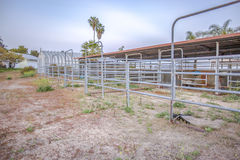 Horse stables on a large San Diego property. Outdoors in Southern California homes ready for real estate listings Royalty Free Stock Photography