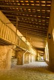 Horse stables in Spanish monastery. Mallorca, Spain - July 4, 2017: A view of old horse stables belonging to the Santuari de Lluc monastery which was built Royalty Free Stock Images