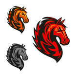 Horse stallion heraldic vector icons Stock Photo