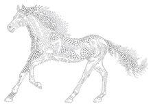Horse of the stars stock illustration