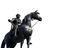 Horse statue. With king rider Royalty Free Stock Photos