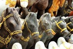 Horse  statue. Horse heads in Bangkok Thailand Royalty Free Stock Photo