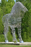 Horse statue. BROMONT QUEBEC CANADA JUNE 01 2016: By Mathieu Isabelle new statue in Bromont. The home of the Parc equestre Olympique de Bromont, equestrian Stock Photo
