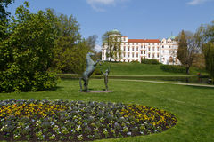 Horse statue in front of Celle castle Royalty Free Stock Image