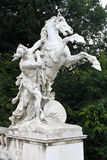 Horse statue. In front of the Natural History Museum in Hofburg complex, Vienna, Austria. The Maria Theresa square Stock Photo