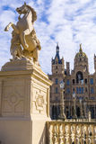 Horse statue in front of Schwerin Castle, Mecklenburg Western Pomerania, Germany Stock Image