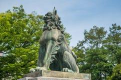 Horse statue of Gokoku Jinja Shinto Shrine Royalty Free Stock Photo