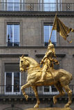 Horse statue of Joan of Arc Stock Images
