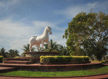 A horse statue at the park in Kampot, Cambodia Royalty Free Stock Image
