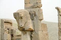 Horse statue of Persepolis, Iran Stock Photos