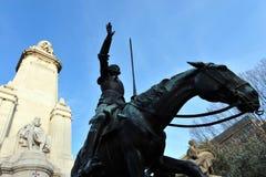 Horse Statue on Plaza de Espana Stock Photo