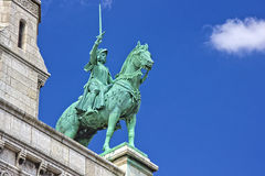 Horse statue of The Sacre Coeur. Horse statue of the The Sacre Coeur Basilique Royalty Free Stock Image