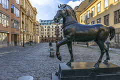 Horse Statue in Stockholm Stock Photo