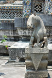 Horse statue at Wat Arun Royalty Free Stock Photography