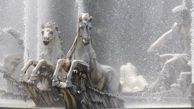 The horse statue in the water is the spirit of going forward royalty free stock image
