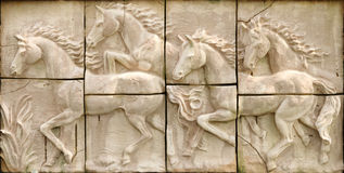 Horse stone Royalty Free Stock Images
