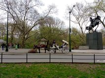 Horse and Carriage Ride in Central Park, NYC, NY, USA Stock Photos
