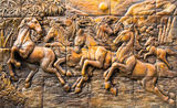 Horse stucco wall Stock Image