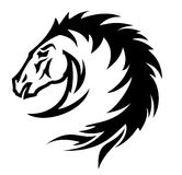 Horse symbol (). Nice  horse. Style - tattoo, abstract, typographic Stock Images
