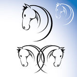 Horse symbol. Vector illustration of horse head Stock Illustration