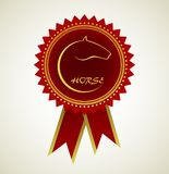 Horse symbol award rosette Stock Photos