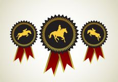 Horse symbol award rosette Royalty Free Stock Photography