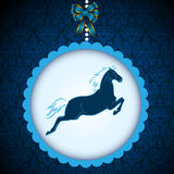 Horse symbol  card  Royalty Free Stock Images