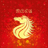 Horse, the symbol of new year. Vector background. Horse, the symbol of new year stock illustration