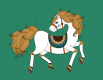 Horse. Symbol with patterns vector illustration royalty free illustration
