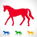 Horse symbol set Stock Photography