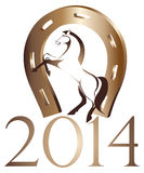 Horse, symbol of 2014 year Royalty Free Stock Image